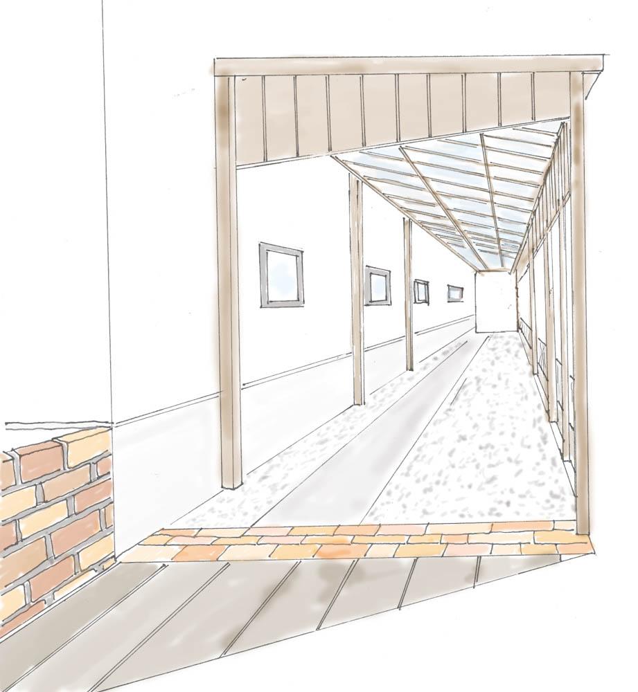 ナチュラルテイストの木製自転車小屋をローコストで制作する