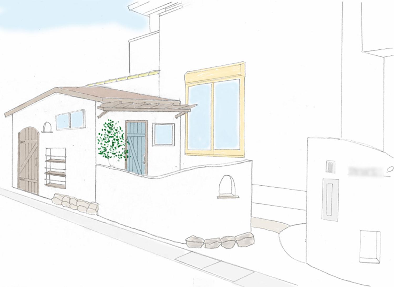 小屋と自転車置き場とサンルーム