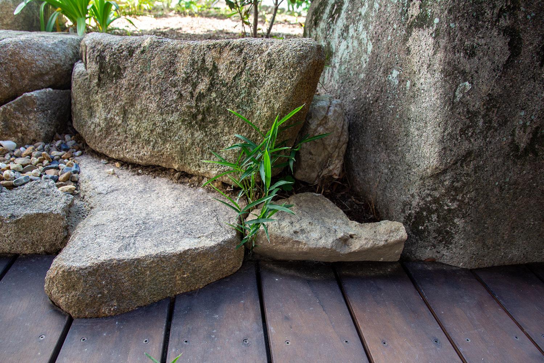 古い和庭の再利用