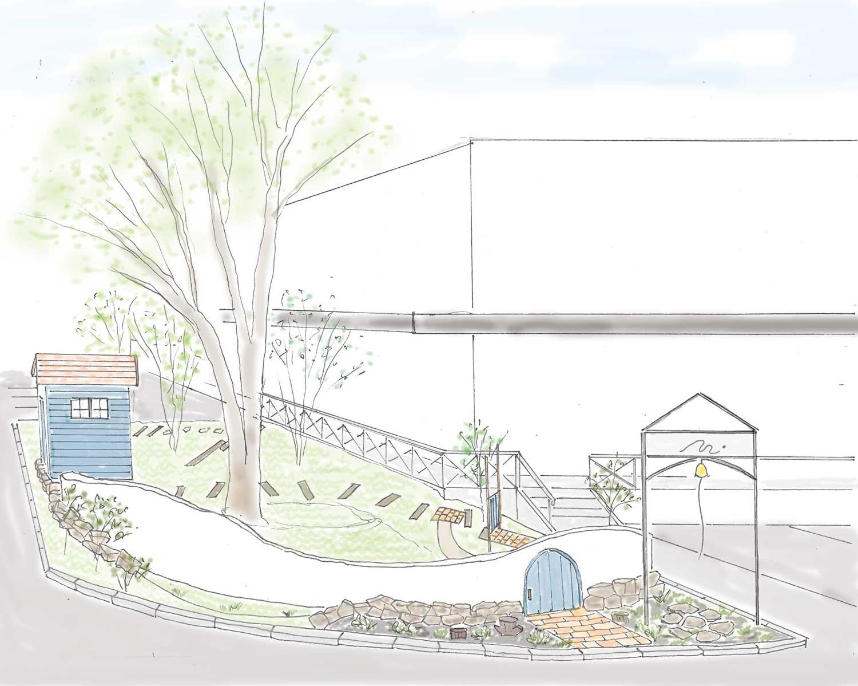 子どものための庭と庭小屋