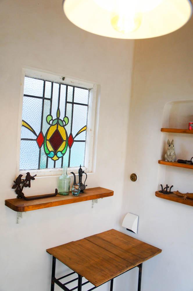 イタリア製漆喰塗りの庭小屋(室内)