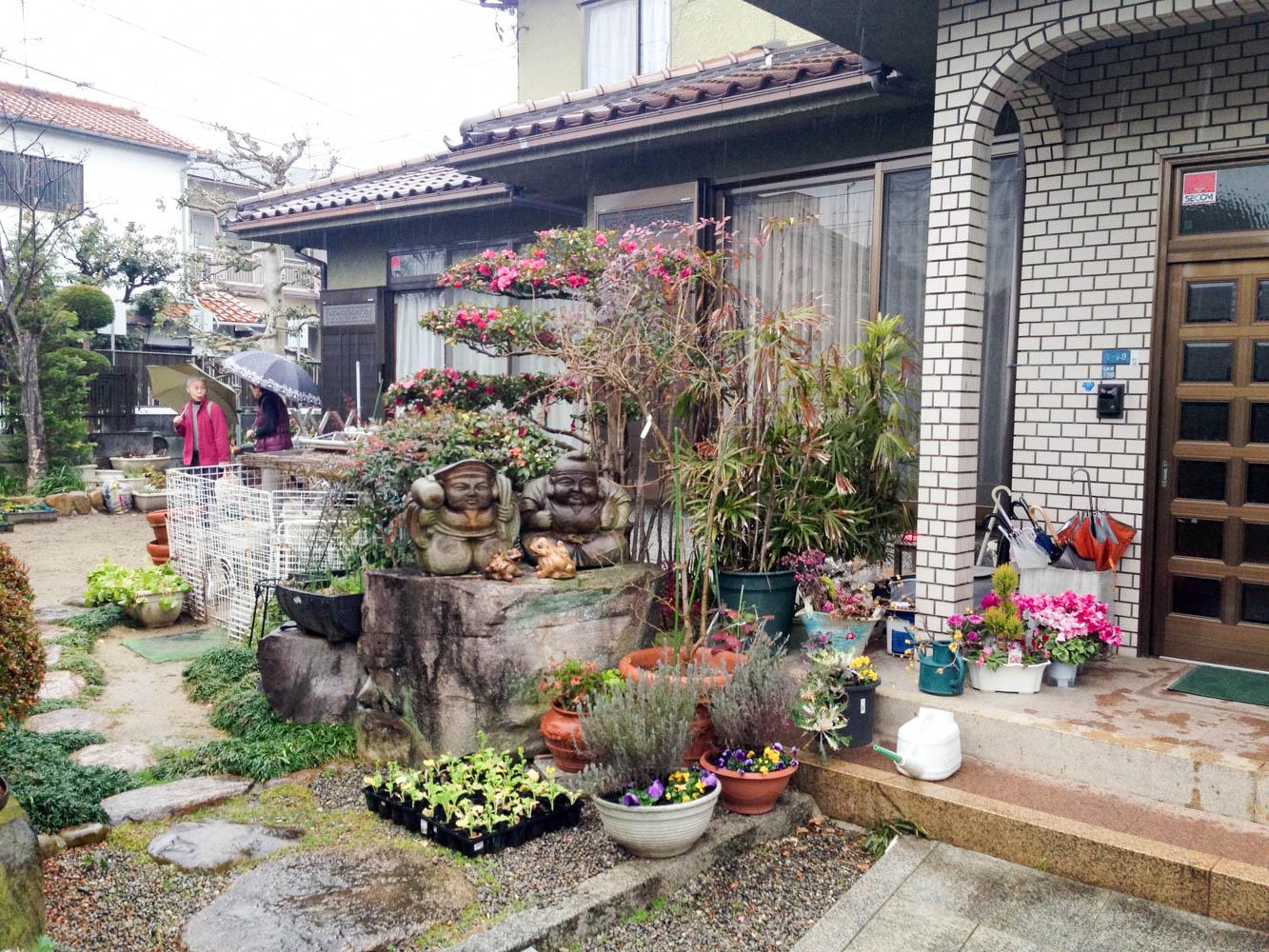 和風の庭をプチリフォームの施工前