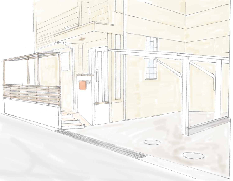 玄関前のリフォーム外構
