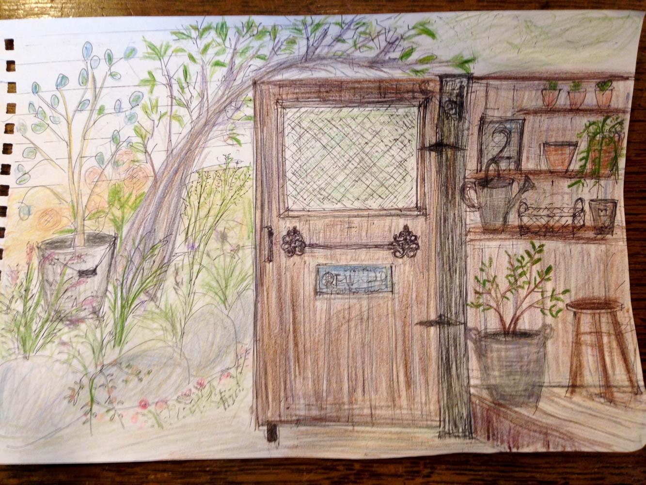 和風の庭を雑貨屋さんの可愛い庭に全面リフォームの施工前
