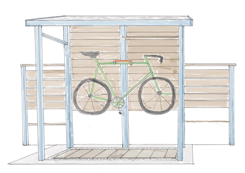 物置を自転車小屋にリフォーム